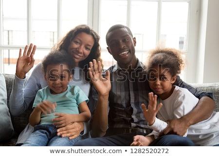 two american kids saying hi stock photo © bluering