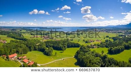 hegy · panoráma · tó · természet · hegyek · úszás - stock fotó © kb-photodesign