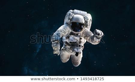 Astronauta voador espaço ilustração criança paisagem Foto stock © bluering