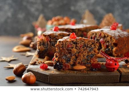 Fruitcake voedsel vruchten cake zomer bes Stockfoto © M-studio