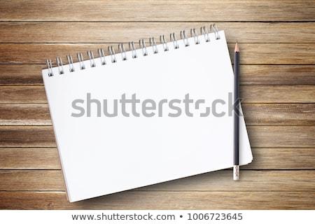 Ceruza nyitva napló fa asztal iroda asztal Stock fotó © wavebreak_media