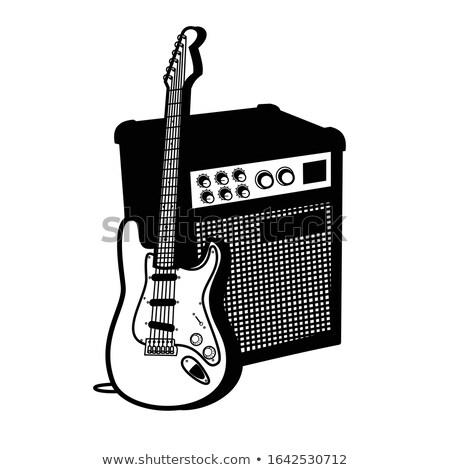 guitar amplifier symbol stock photo © tracer