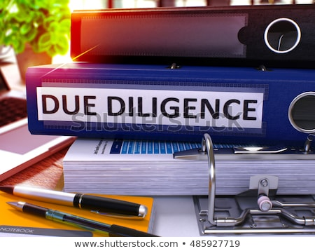 Stock photo: Due Diligence on Blue Office Folder. Toned Image. 3D.