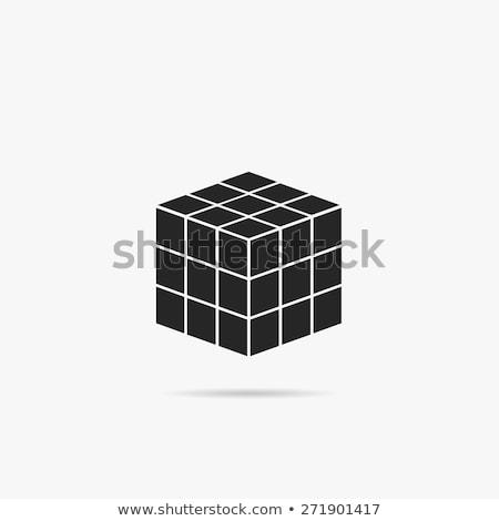 Cubo ícone como jogo logotipo Foto stock © Olena