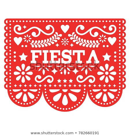 Mexican folk vector wedding or party invitation, floral happy greeting card, colorful design with fl Stock photo © RedKoala