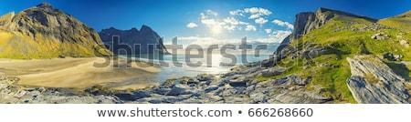mountains panorama landscape islands and ocean stock photo © blasbike