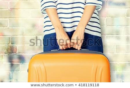 女性 · スーツケース · 休日 · 幸福 · 荷物 - ストックフォト © monkey_business