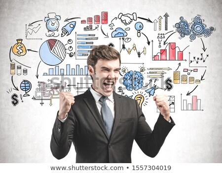 Career Strategy Coaching Drawn on White Wall.  Stock photo © tashatuvango