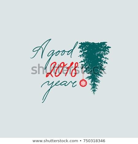 Boldog új évet felirat kézzel írott jó év buli Stock fotó © Terriana