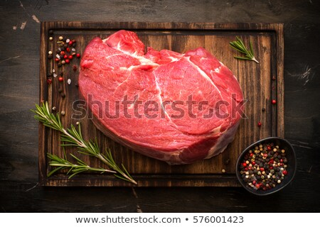 Large piece of meat on fork Stock photo © serg64