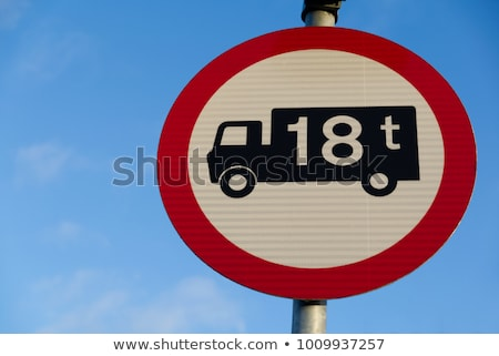 Truck weight limit sign Stock photo © njnightsky