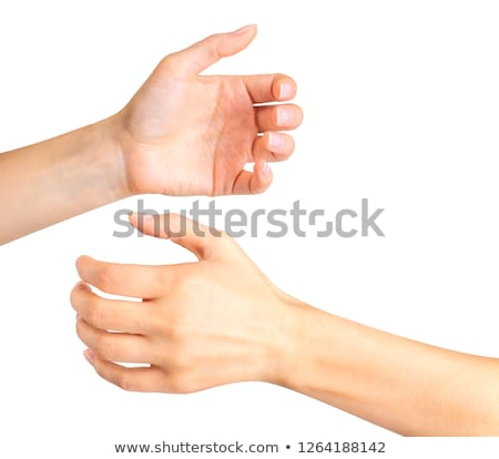 Woman's hand holding empty drinking glass Stock photo © IS2