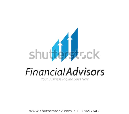 corporate business finance logo concept with abstract growth box cube flower leaf element for digita stock photo © taufik_al_amin