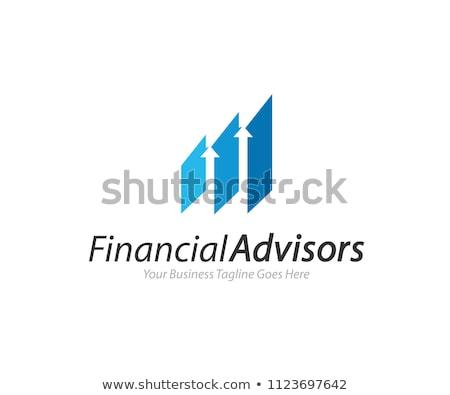 Kurumsal iş finanse logo soyut büyüme Stok fotoğraf © taufik_al_amin