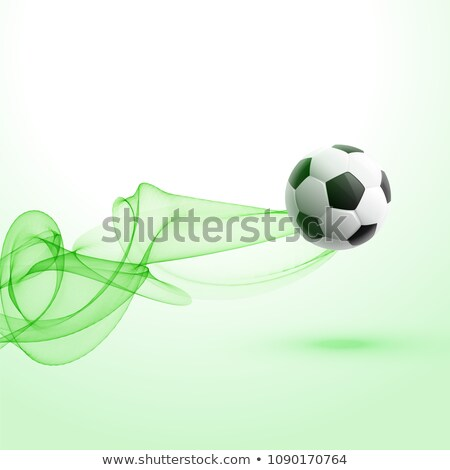 stylish football tournament background with green wave Stock photo © SArts