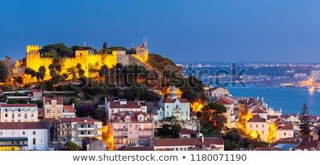 Ciudad Lisboa horizonte puesta de sol Portugal paisaje urbano Foto stock © rognar