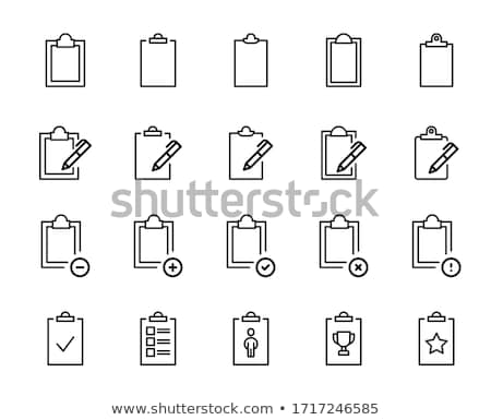 Text Document file vector icon with notes and checkmark. flat sign for mobile concept and web design Stock photo © kyryloff