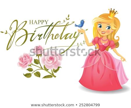 gelukkige · verjaardag · schilderij · illustratie · geschenken · cake · voedsel - stockfoto © robuart