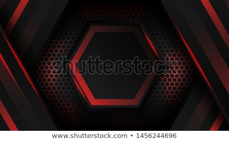 abstract hexagon futuristic surface with red neon light stock photo © smirkdingo