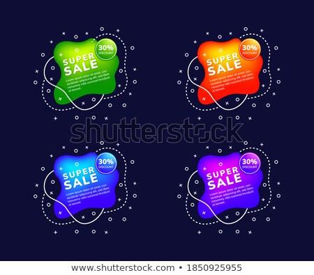 Cztery sprzedaży czat bańki stylu działalności Zdjęcia stock © SArts