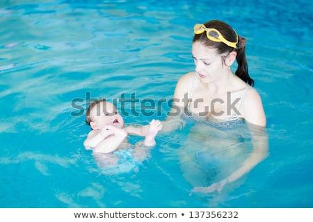 красивой · дети · бассейна · счастливым · спорт · ребенка - Сток-фото © deandrobot