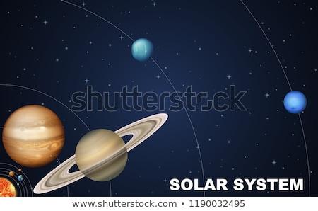 sistema · solar · cena · ilustração · sol · projeto · fundo - foto stock © bluering
