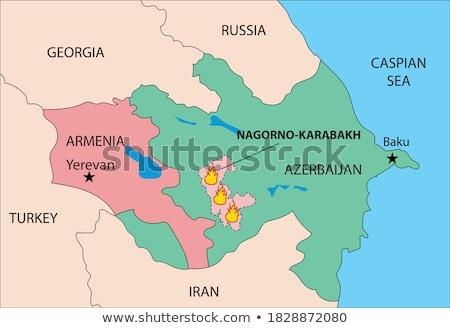 Örményország térkép stilizált vektor ikon absztrakt Stock fotó © blaskorizov