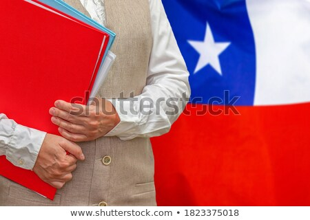 Cartella bandiera Chile file isolato bianco Foto d'archivio © MikhailMishchenko