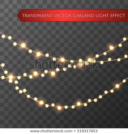 クリスマス 黄色 ライト 花輪 クリスマス 休日 ストックフォト © vapi