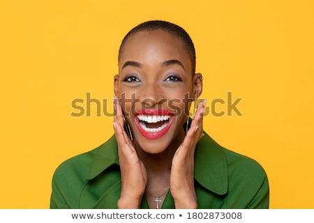 close up portrait of a surprised woman stock photo © deandrobot