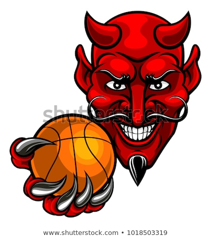 Cartoon diable basket illustration jouer sport Photo stock © cthoman