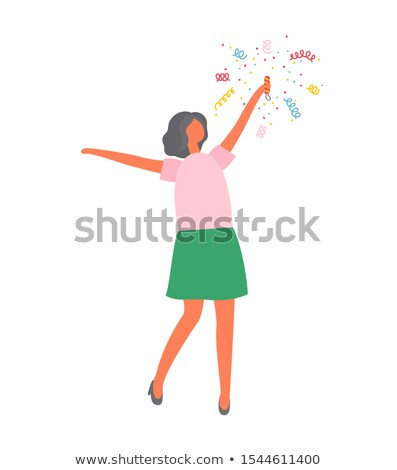 Christmas Party Women in Skirts Crackers Exploding Stock photo © robuart