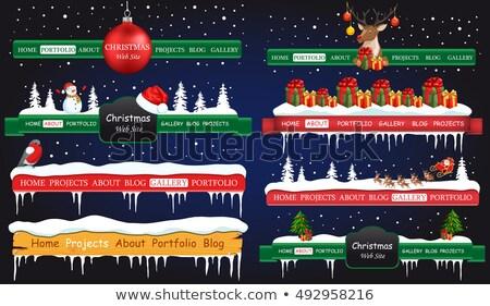 kerstman · baby · vorm · klein · kind · zak - stockfoto © robuart