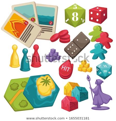 Illustratie bordspel monster boom partij leuk Stockfoto © colematt