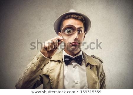 Dedektif adam örnek çalışmak arka plan Stok fotoğraf © colematt