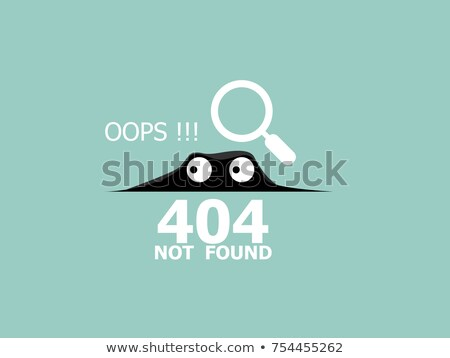 Vector concept illustration - page 404. Page is lost and not found message - UFO Stock photo © Natali_Brill