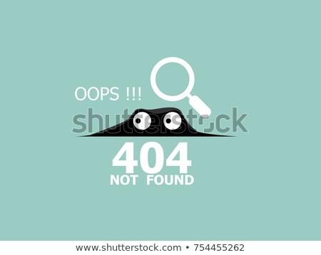 Página 404 perdido não mensagem ufo Foto stock © Natali_Brill