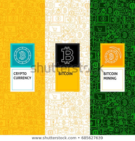 bitcoin · simgeler · modern · bilgisayar · ağ · teknoloji - stok fotoğraf © netkov1