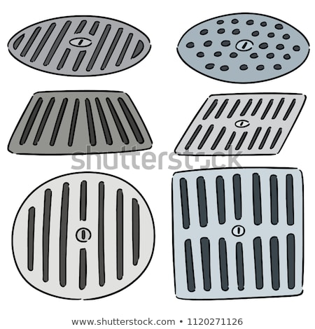 Stock photo: vector set of cover the drain