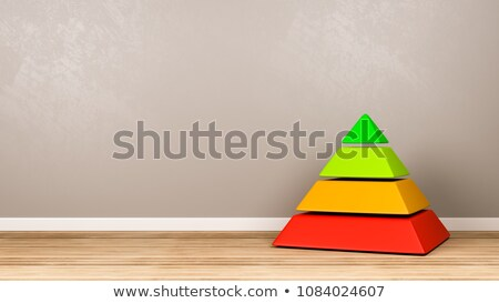 Four Levels Pyramid Structure in the Room Stock photo © make