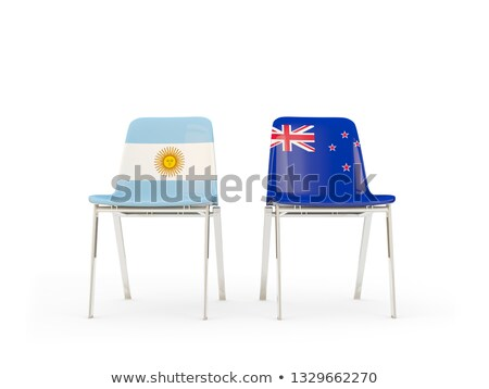 Two chairs with flags of Argentina and new zealand Stock photo © MikhailMishchenko