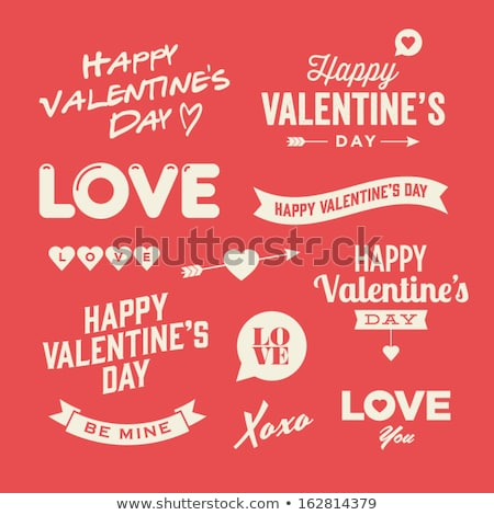 ストックフォト: 愛 · アイコン · バレンタインデー · にログイン · お祝い · 黒