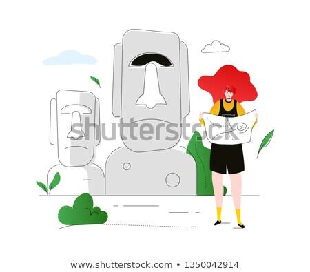 stencil · kleurrijk · illustratie · standbeeld · bladeren · heldere - stockfoto © decorwithme