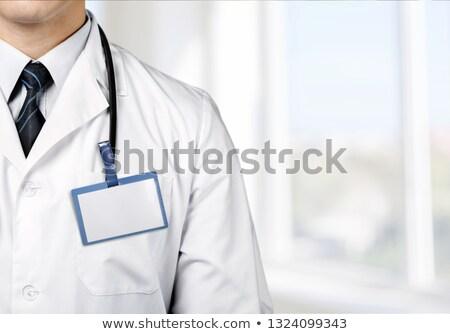 Stock fotó: Orvos · sztetoszkóp · engedély · fehér · iroda · kórház