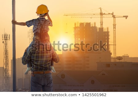 Kids working on the construction site Stock photo © colematt