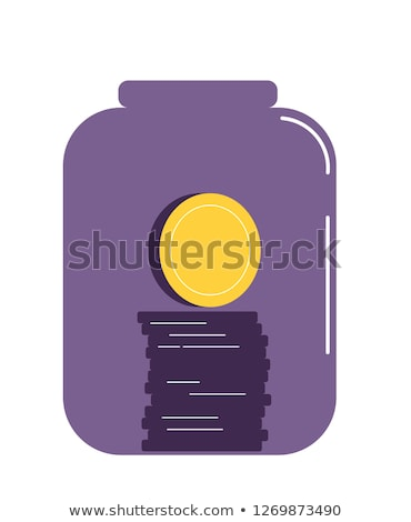 ceny · jar · etykiety · monet · szkła - zdjęcia stock © szefei