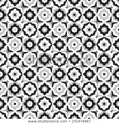 Klasszikus végtelenített vektor minta mértani ismétlés Stock fotó © yopixart