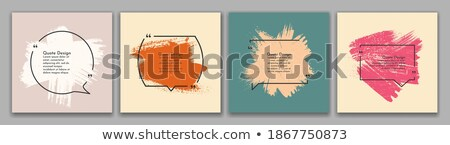 set of paint splattered wood signs Stock photo © bluering