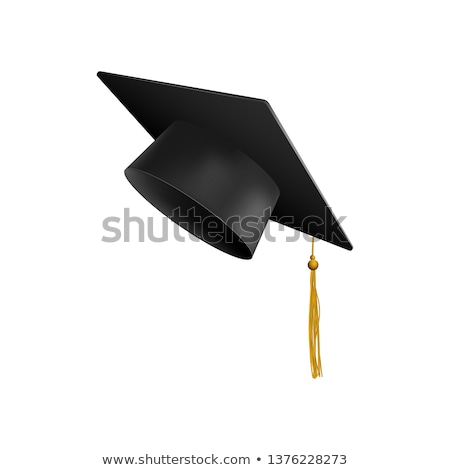 graduation cap with diploma 3d stock photo © djmilic