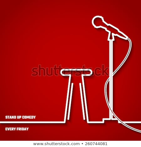 Stand Up Show In Club Poster Announcement Vector Stock photo © pikepicture